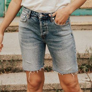 Free People Avery Bermuda Jean Shorts